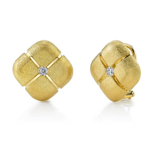 Square Pillow Diamond Earrings