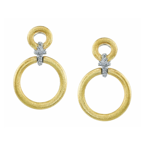 Earrings with Diamond Link