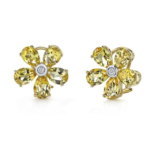 Beryl Flower Stud Earrings
