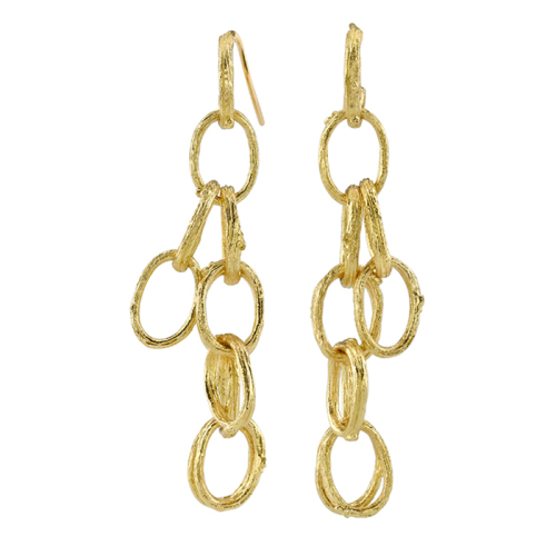 Gold Chain Dangling Earrings