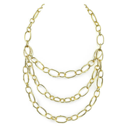 Gold BIB Chain Necklace
