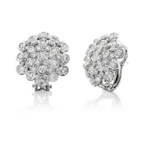 Dome Shaped Diamond Seasons Earrings