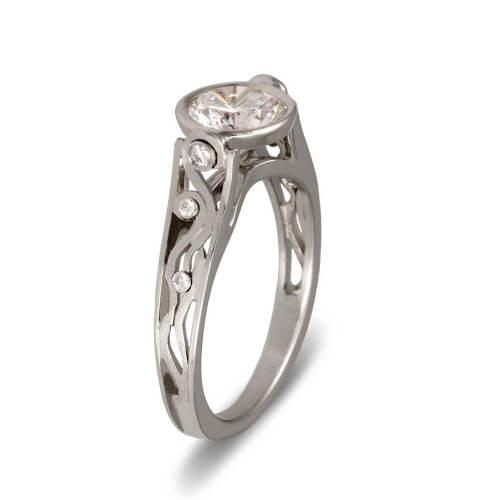 White Gold Semi-Mount Engagement Ring