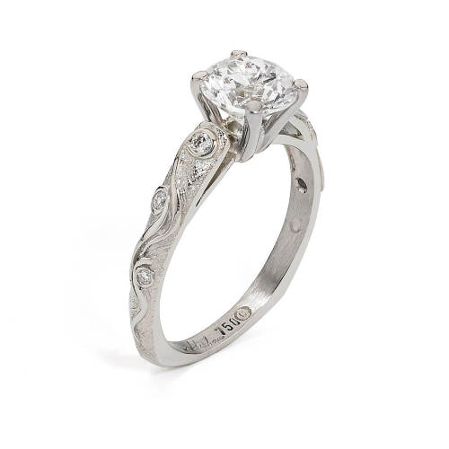White Gold Semi-Mount Engagement Ring