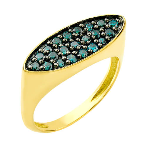 New Life Ring with Blue Diamonds