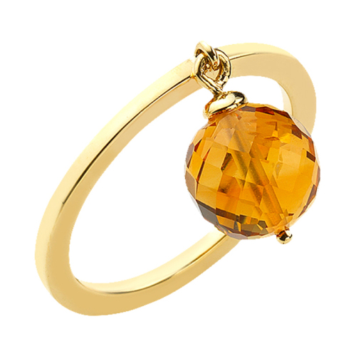 Eternal Youth Ring with Citrine