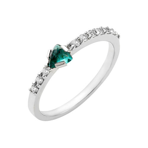 Imagination Ring with Green Tourmaline