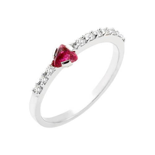 Women Knowledge Ring with Pink Tourmaline