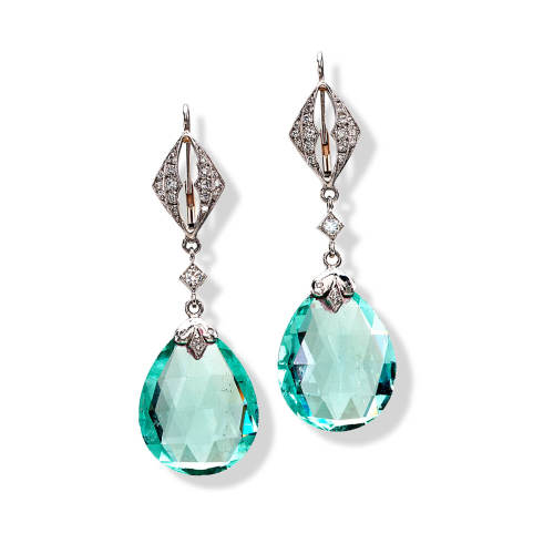 cathy-carmendy-10-earrings-platinum-green-beryl-briolette-diamond