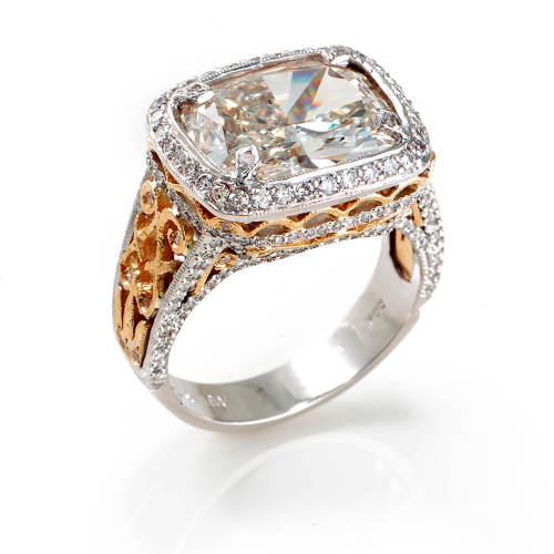 Gold & Platinum Engagement Ring