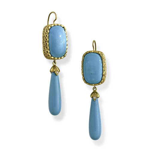 Fine Turquoise Drop Earrings