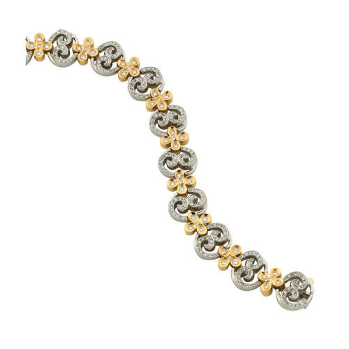 Pave Diamond Bouquet Bracelet