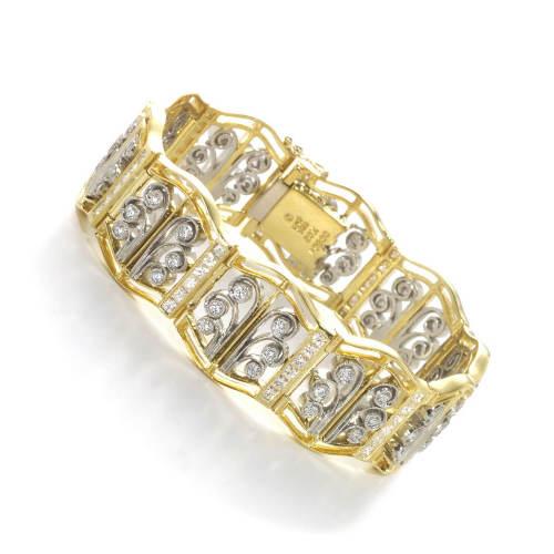 Diamond French Lace Bracelet