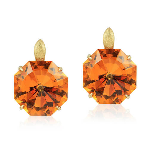 Citrine 'Origami' Earrings