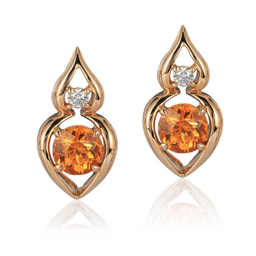 Diamond & Spessartite 'Pantea' Earrings