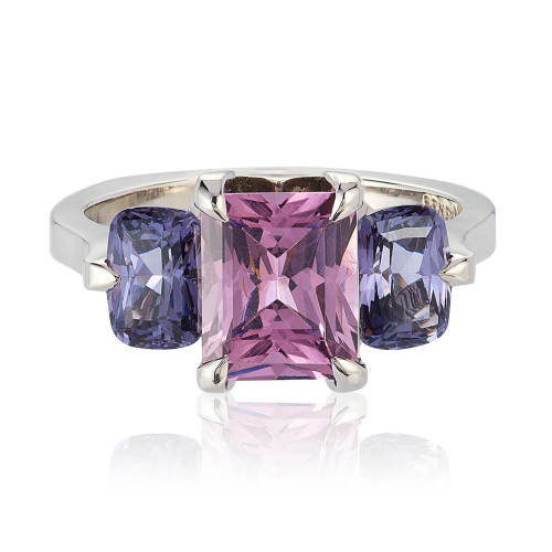Three-Stone Spinel & Palladium 'Oslo' Ring