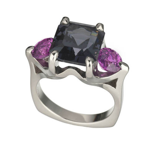 Spinel & Pink Sapphire 'Oslo' Ring