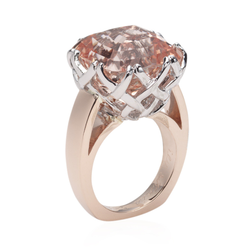 Trellis Ring in Peach Topaz