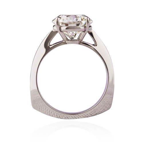 Custom Platinum & Diamond Solitaire Ring