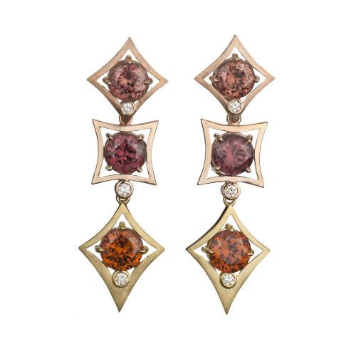 Charmed Life Earrings with Zircon