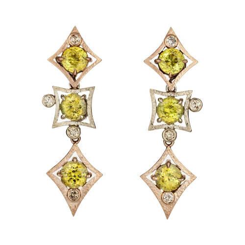 Charmed Life Earrings with Mali Garnet