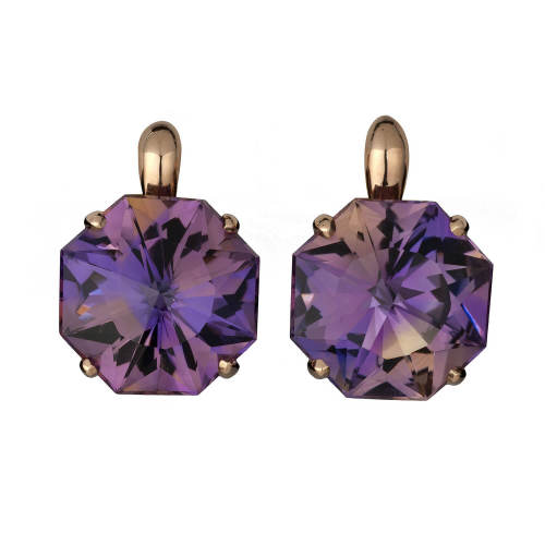 Ametrine 'Origami' Earrings