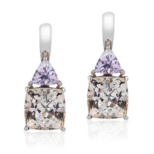 Topaz & Tourmaline 'Double Drop' Earrings