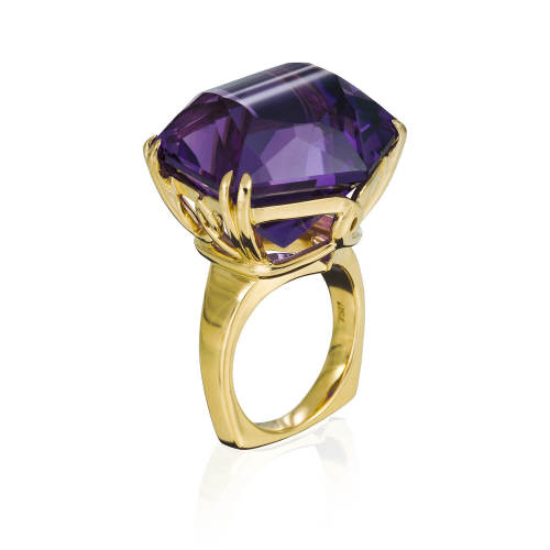 """""""Why Knot"""" Ring with Amethyst"""