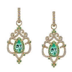 erica-courtney-10-earrings-18kt-yellow-gold-paraiba-diamonds-diamonds-in-huggie