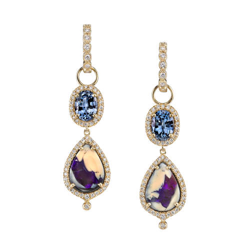 Opal & Spinel Earrings