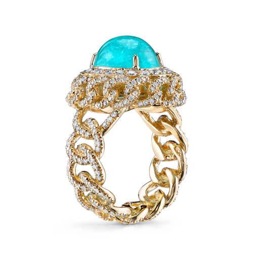 Paraiba Chain Ring