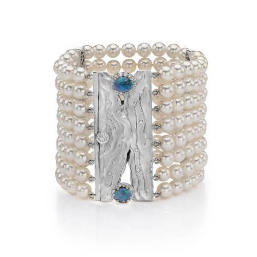 Ocean's Shore Bracelet with Opals