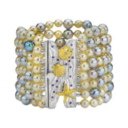 ljd-designs-22-bracelet-18-kt-yellow-gold-&-sterling-silver-925-garnets-diamond-baroque-pearls-akoya-pearls
