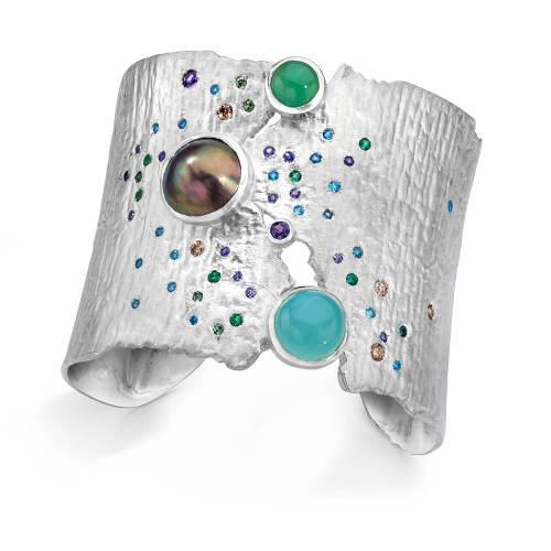 ljd-designs-33-cuff-sterling-silver-pearls-sapphire-aquamarine-diamond-alexandrite