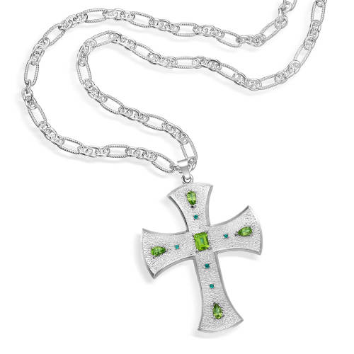 Maltese Cross Sterling Silver Necklace