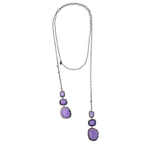 Necklace with Violet Sapphires