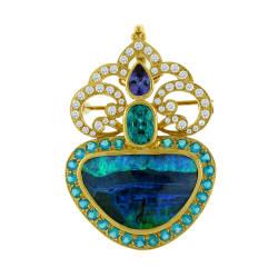 paula-crevoshay-14-pendant-18-kt-yellow-gold-opal-tanzanite-apatite-zircon-diamond