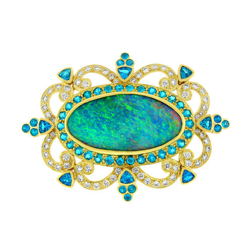 Opal & Apatite Pendant