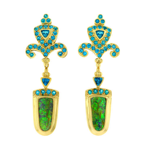 Opal & Apatite Earrings