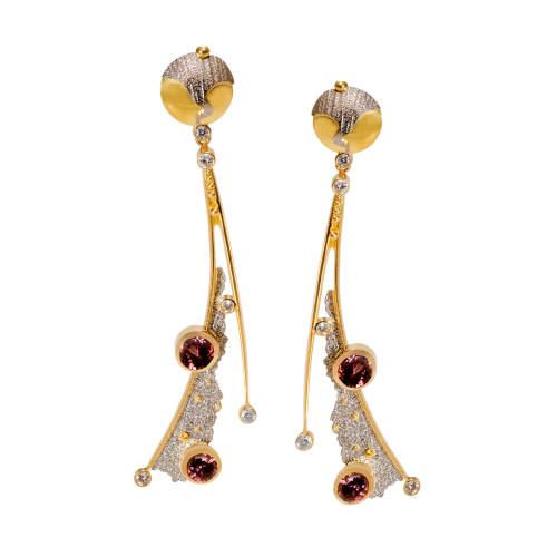 Earrings with Diamonds & Zircons