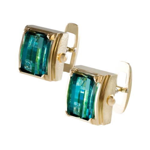 Cufflinks with Afghani Tourmalines