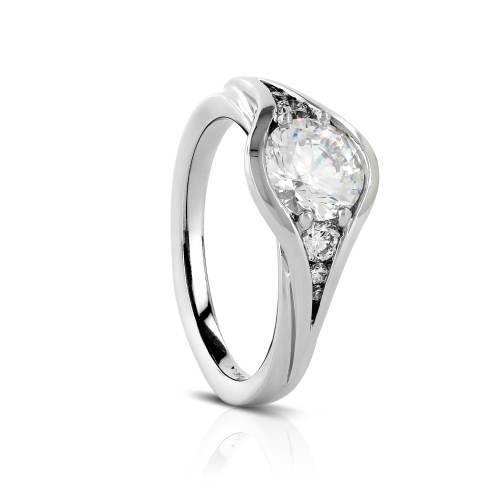 Half Bezel Prong Semi-Mount Engagement Ring