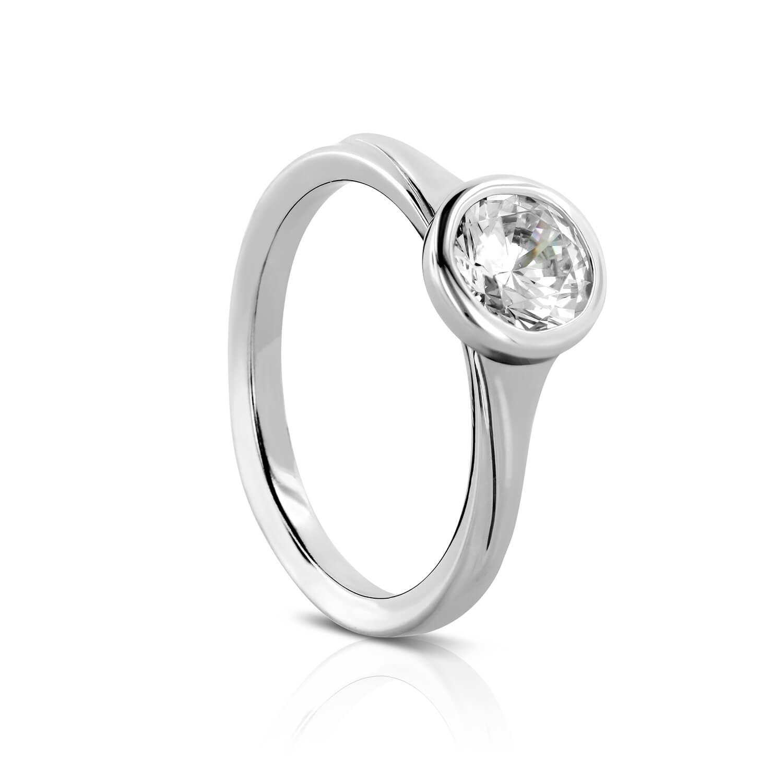 Full Bezel Semi Mount Engagement Ring Farlang