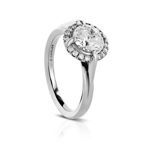 Compass Halo Semi-Mount Engagement Ring