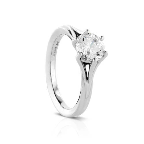 Six-Prong Semi-Mount Engagement Ring