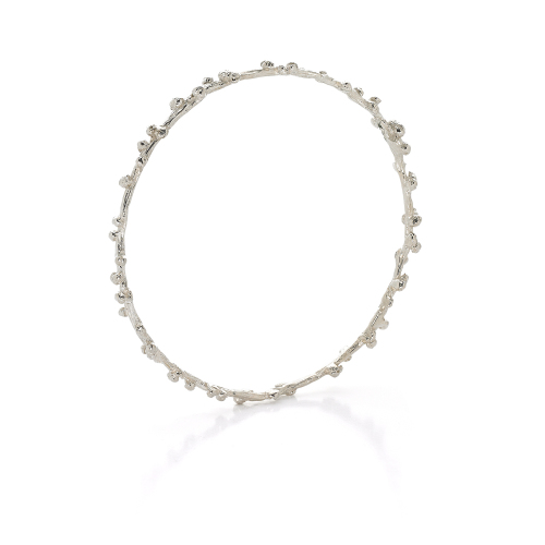 Silver Palm Berries Bangle