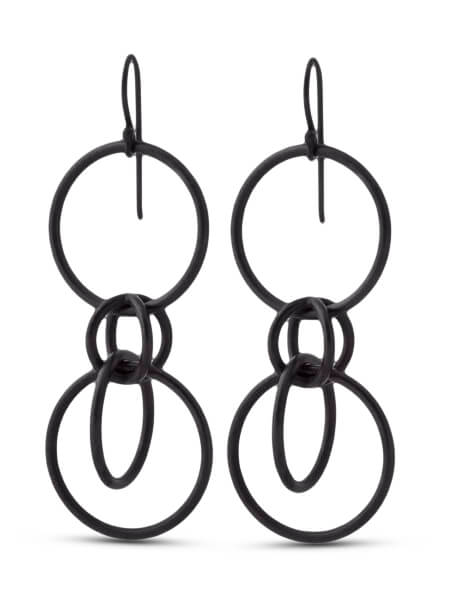 Diana Widman Dots Bubbles Twist Earrings Minimal Jewelry