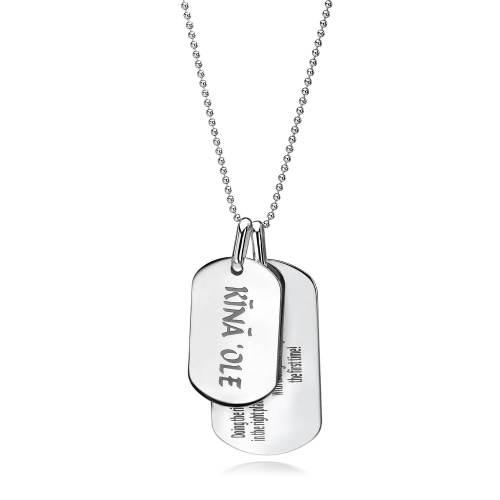 Silver Kina Ole Large Necklace