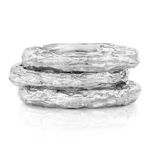 Banyan Tree Silver Stackable Ring