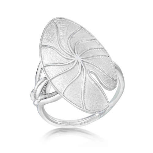 Lily Pad Silver Ring
